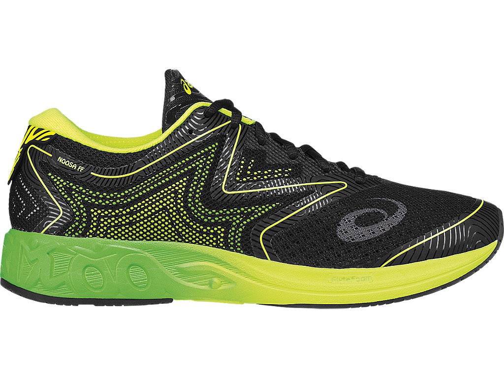 Asics NOOSA FF M - Black / Green Gecko / Safety Yellow