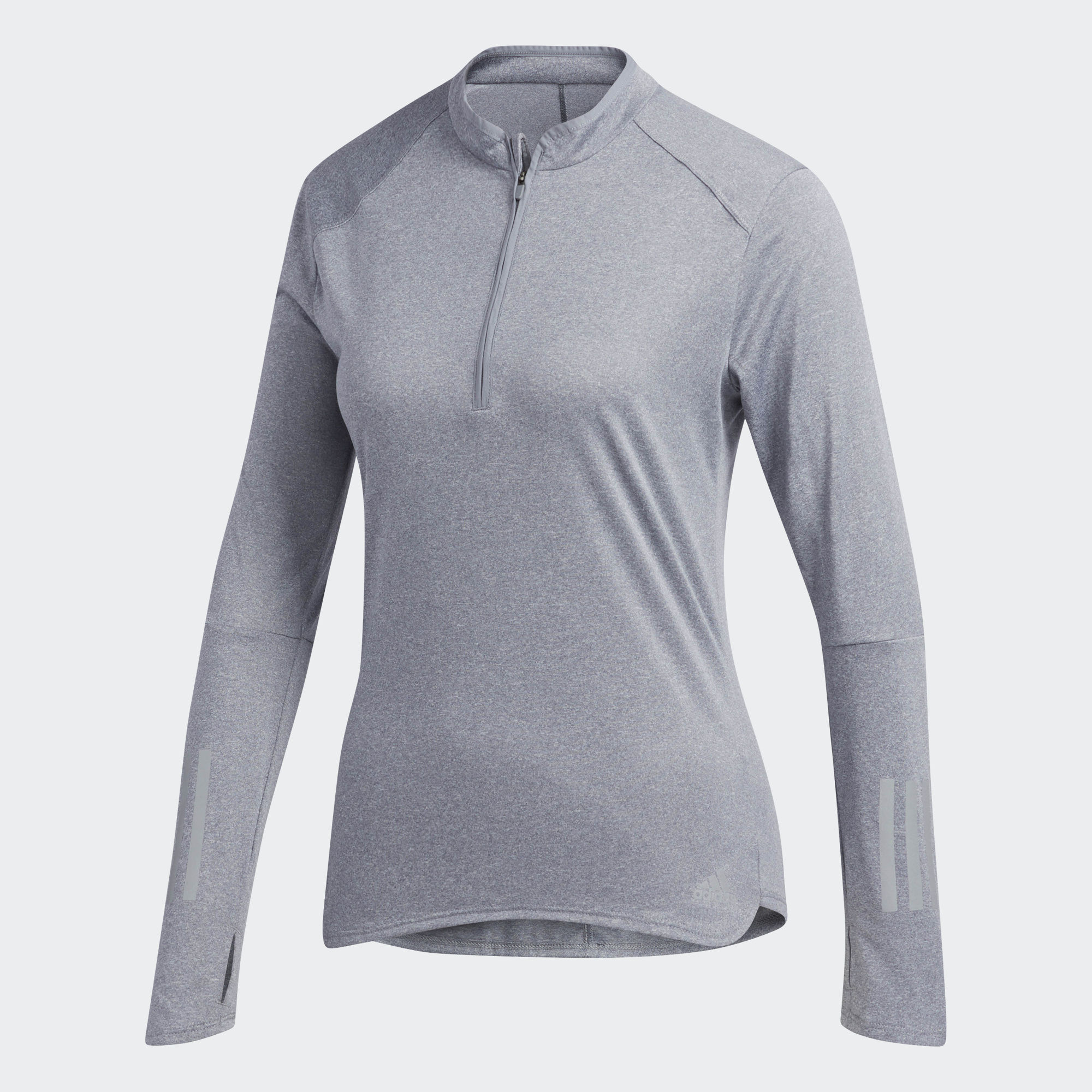 Джемпер Adidas Response LS ZIP TEE W - Heather Grey