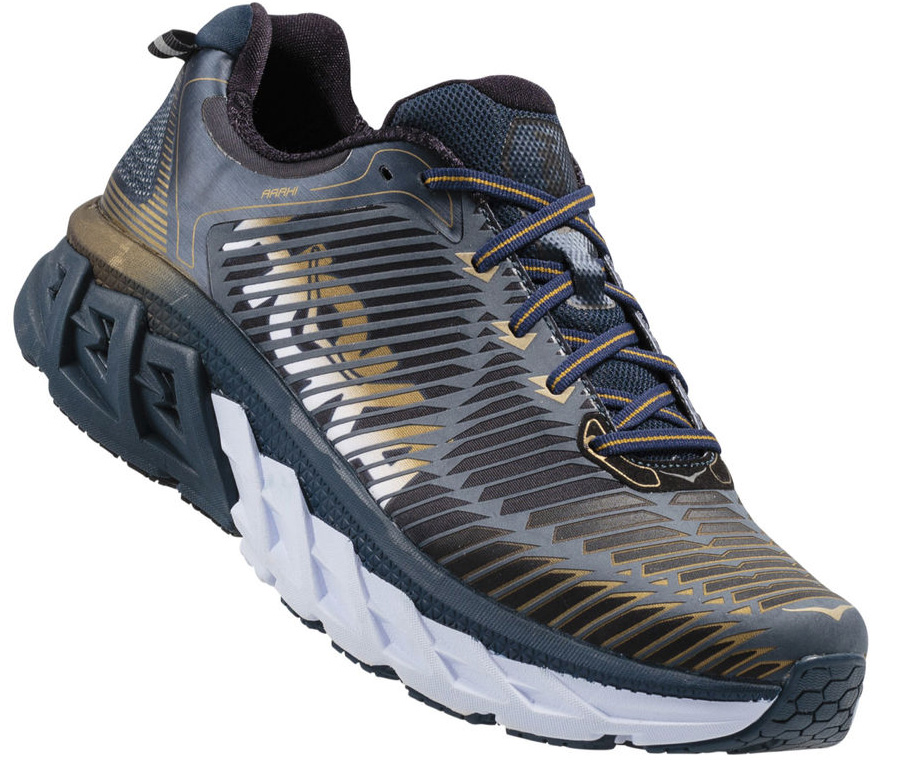 HOKA ONE ONE ARAHI M - Midnight Navy / Metallic Gold