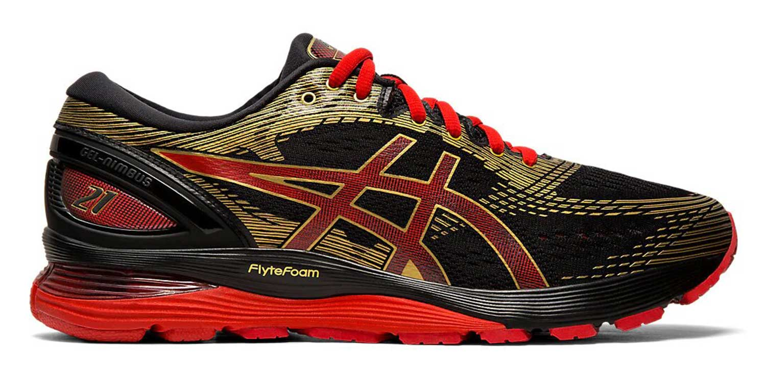 Asics GEL-NIMBUS 21 M - Black / Classic Red