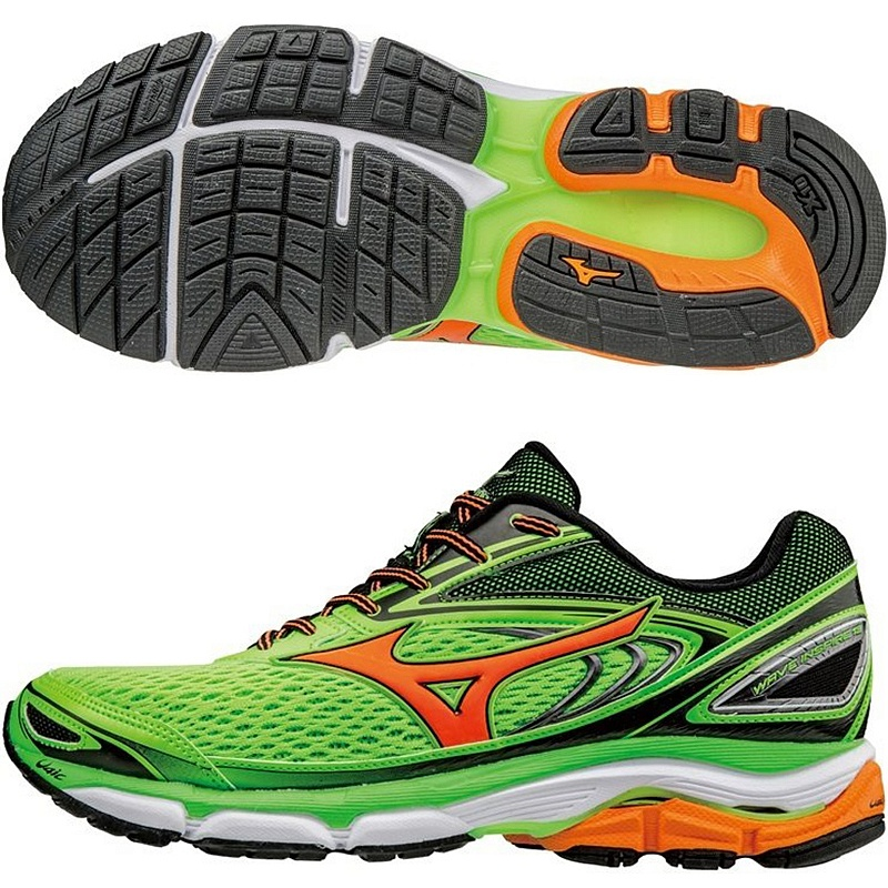 Mizuno WAVE INSPIRE M - Green Gecko / Clownfish / Black