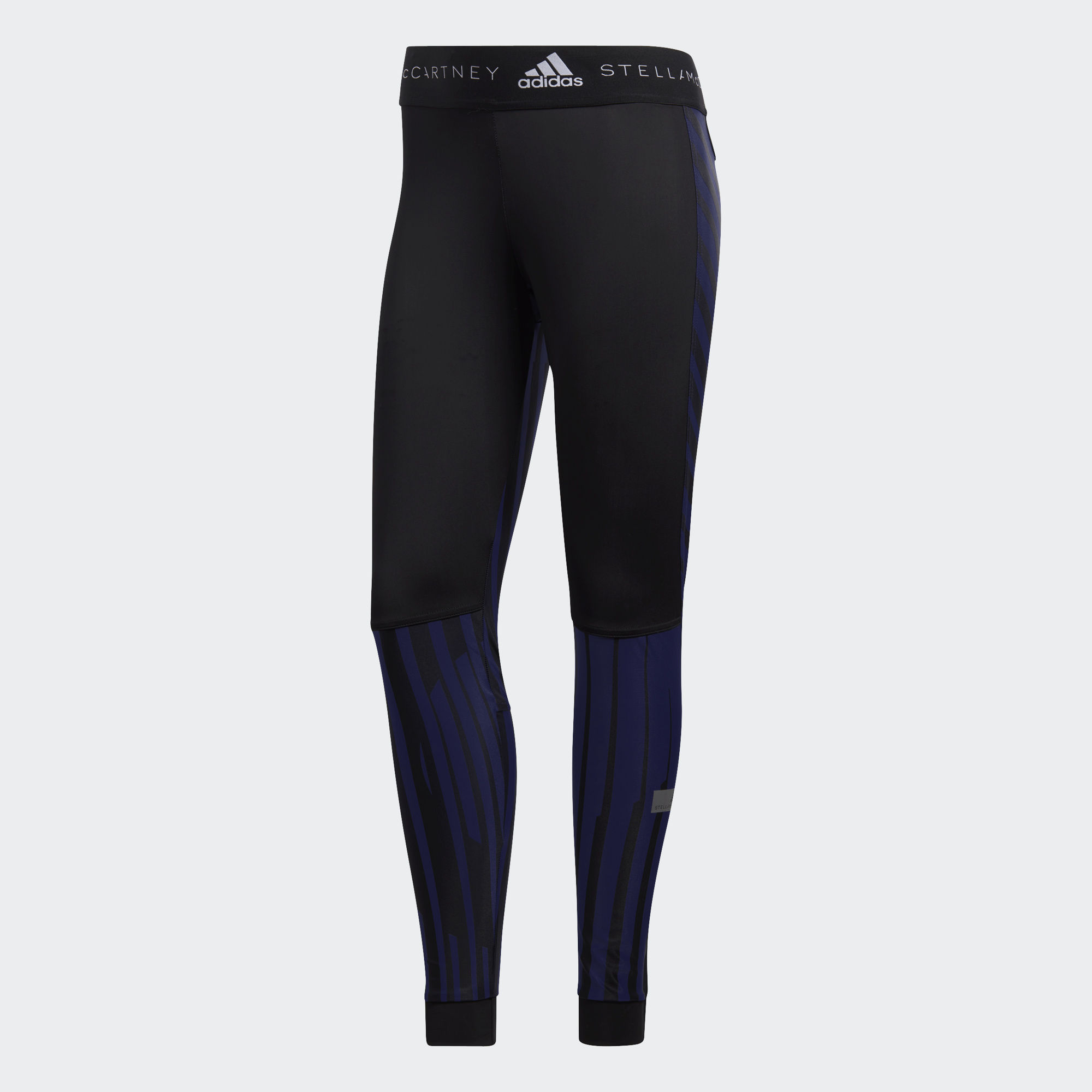 Леггинсы для бега Adidas Printed W - Collegiate Navy / Black