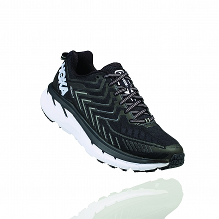 HOKA ONE ONE CLIFTON 4 W - Black / White