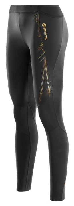 SKINS Тайтсы A400 Long Tights W - Black / Gold