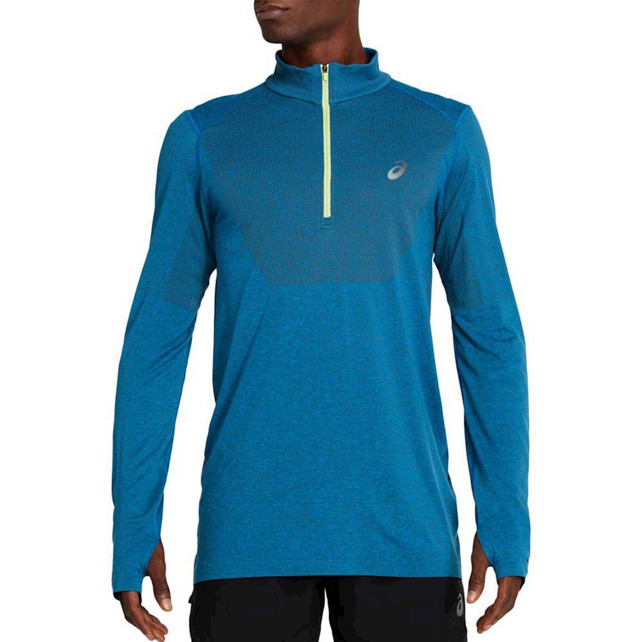 Лонгслив Asics RACE SEAMLESS 1/2 ZIP M - Director Blue