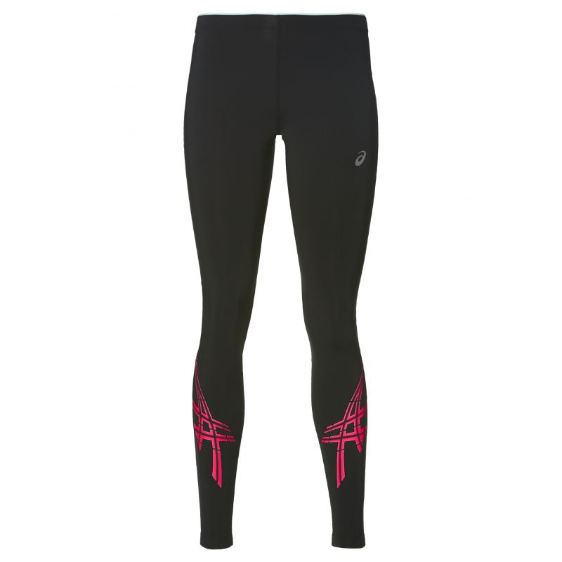 Тайтсы Asics Stripe Tight W - Performance Black / Diva Pink