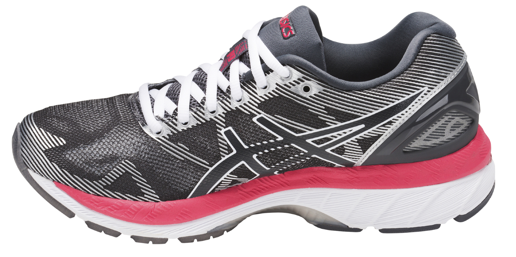 Asics GEL-NIMBUS 19 W - Carbon / Rouge Red / White