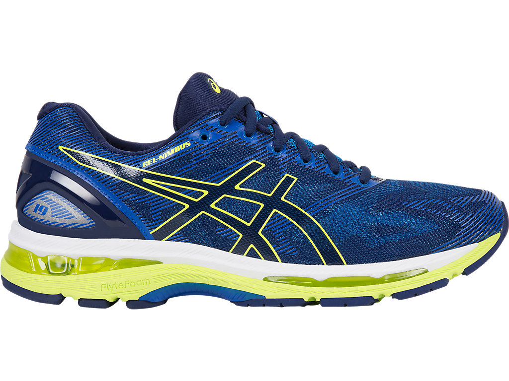 Asics GEL-NIMBUS 19 M - Indigo Blue / Safety Yellow / Electric Blue