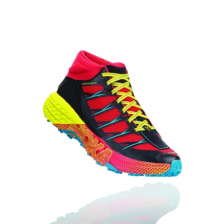 HOKA ONE ONE Speedgoat Mid WP M - Chinese Red / Carribean Sea