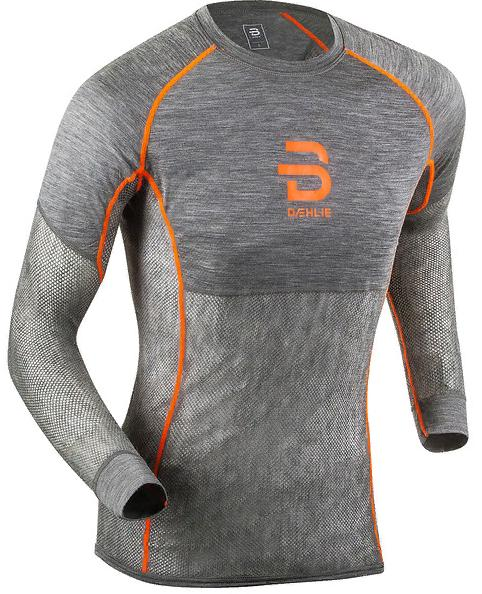 Футболка с дл. рукавом Bjorn Daehlie 2018-19 Airnet Wool long sleeve M - Shocking Orange