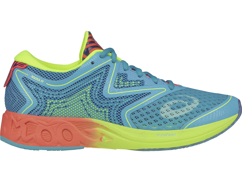 Asics NOOSA FF W - Aquarium / Flash Coral / Safety Yellow