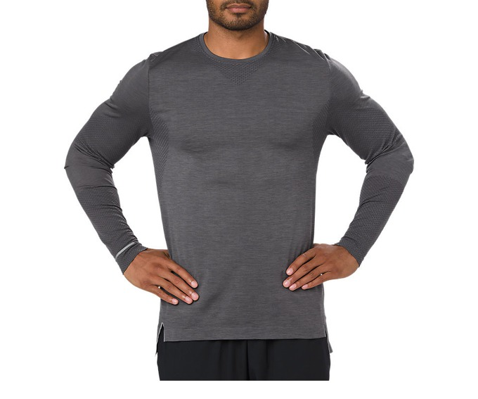 Футболка Asics Seamless LS M  - Dark Grey Heather