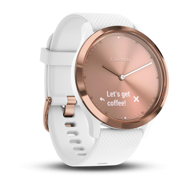 Часы Garmin Vivomove HR, Rose Gold-White, S/M