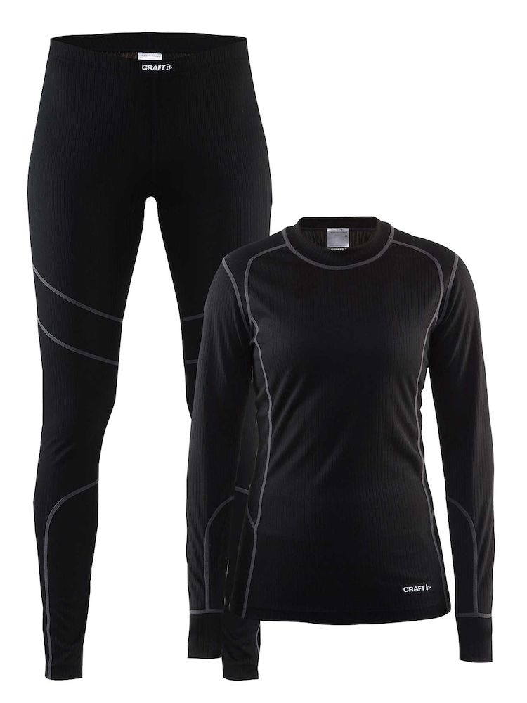 Комплект CRAFT Baselayer W - Black / Granite