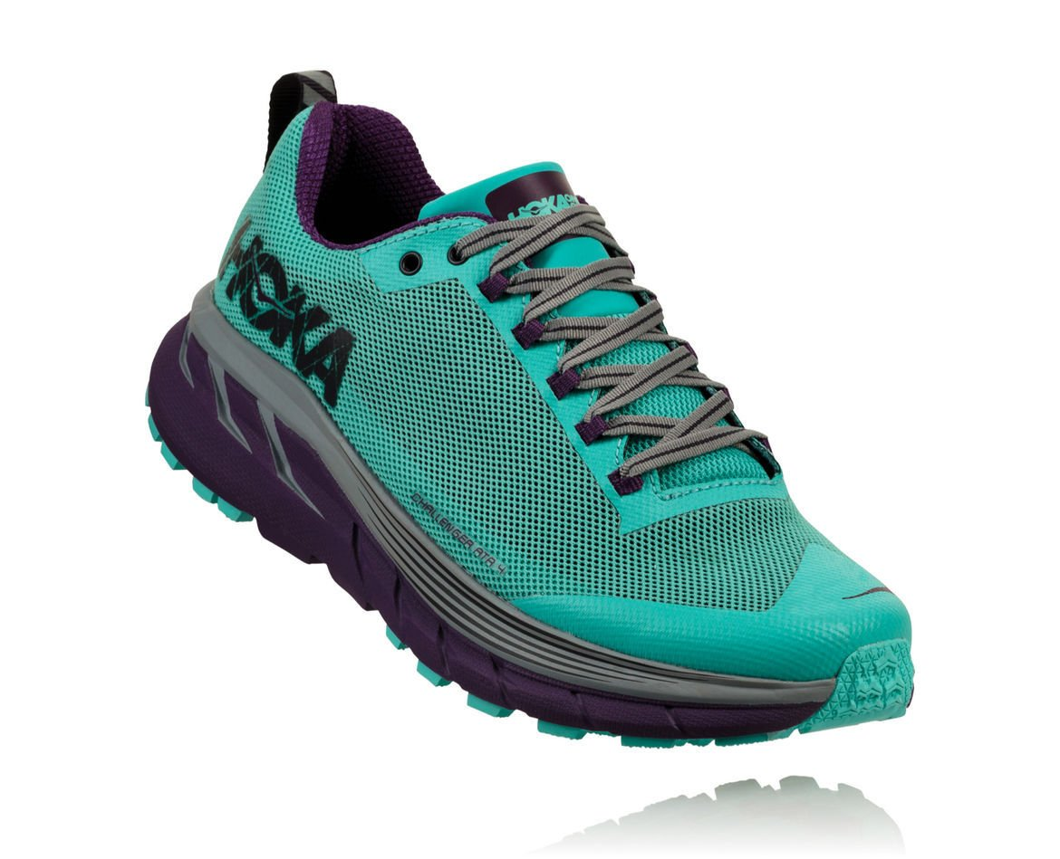 HOKA ONE ONE CHALLENGER ATR 4 W - Pool Blue / Grape Royale